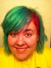 (Ty-Erin-Saurus Rex) Tags: portrait pinkhair greenhair manicpanic multicoloredhair iphoneography