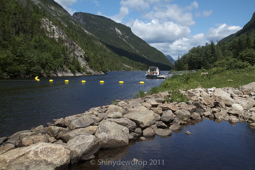 Tranquil waters of River Malbaie