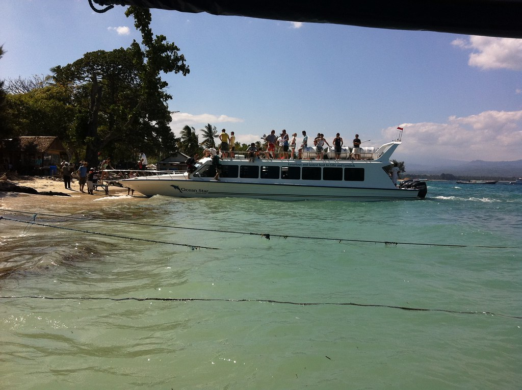 Boat arrival, Gili Air, Lombok, Indonesia