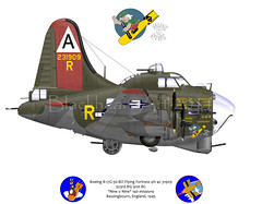 B17G Nine O Nine (blackheartart) Tags: boeing flyingfortress eto 91st b17g nineonine 91stbombardmentgroup worldwariiaircraftmilitaryaviationairplaneusaafcaricaturesart
