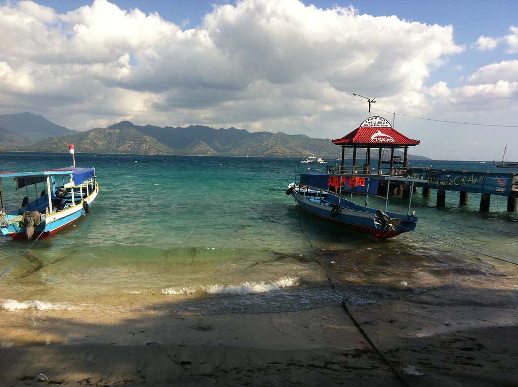 The Gili Air pier, Gili Air, Lombok, Indonesia