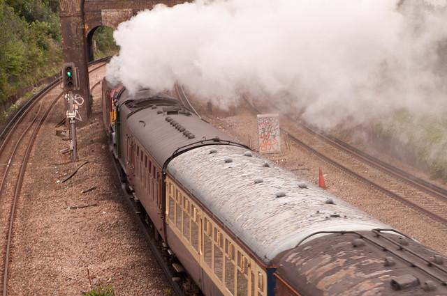 Tornado's steam hides the diesel...