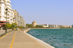 Thessaloniki (maska_29) Tags: city sea nikon greece thessaloniki whitetower d90 aegeansea   thermaicgulf centralmacedonia      ringexcellence blinkagain