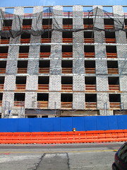 flattire (Ian T West) Tags: blue orange color brooklyn construction symmetry flattire breathe asymmetry brooklynanthropology