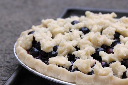 Pre-baked blueberry pie