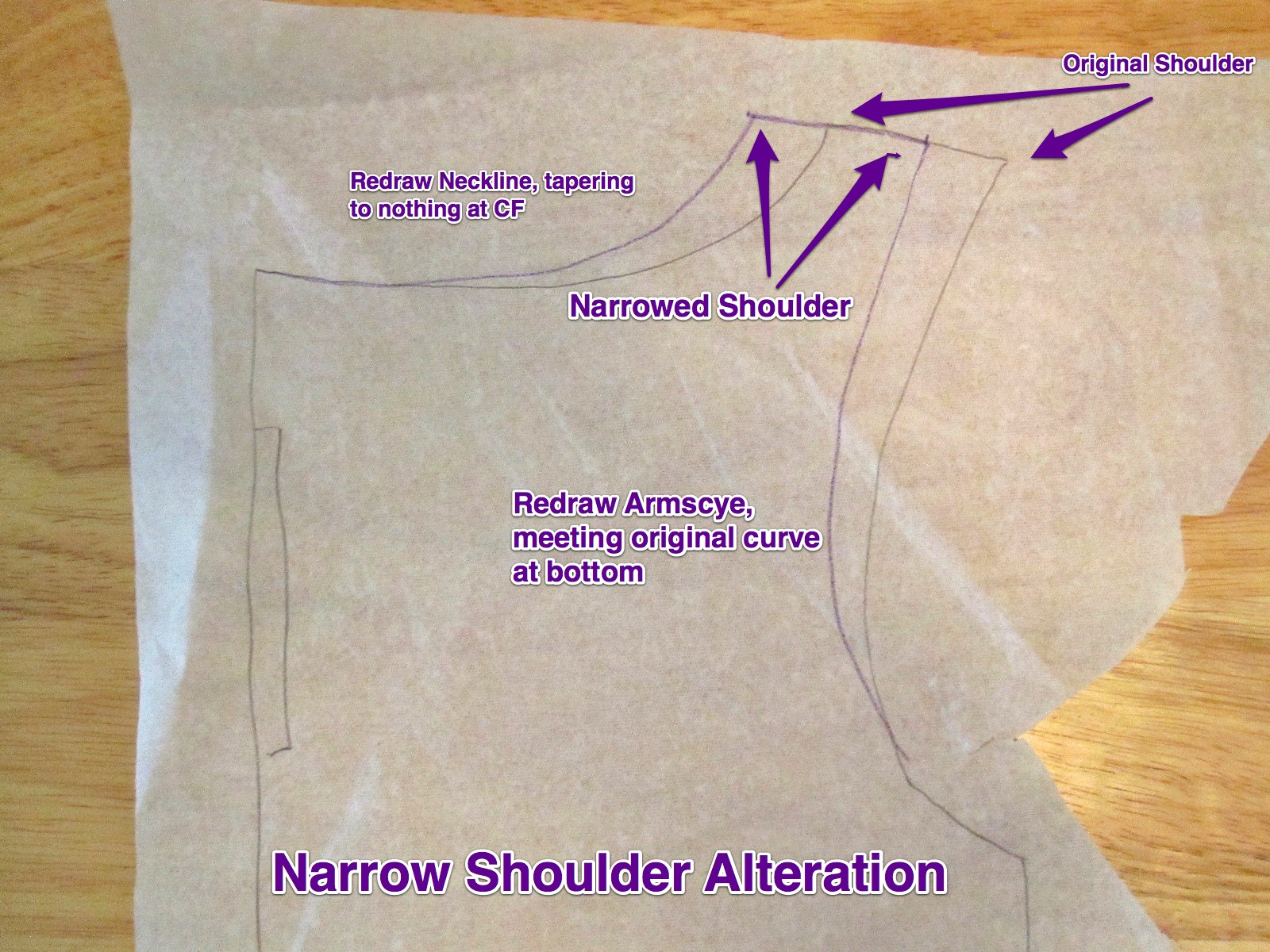 Narrow Shoulder Alteration