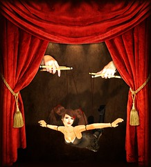 Puppet-Theater (~Yasmina Siamendes~) Tags: life light woman cute art girl fairytale digital photoshop painting effects hands theater photographer shadows arte theatre puppet collages kunst curtain dream award manipulation best sl fantasy virtual artists views brushes second edition edit marionette malen puppe pileup bilde fantasie traum bearbeitung zeichnen puppentheater pimpmypic flickraward artedeluz yasminasiamendes