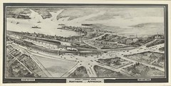 1924 Sketch of the Sydney Harbour Bridge - northern approach