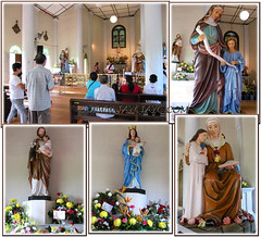 Collage of photos taken inside the Shrine of St Anne, Bukit Mertajam