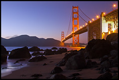 The Golden Gate (Silver1SWA (Ryan Pastorino)) Tags: ocean sanfrancisco bridge beach canon goldengate 7d canon24105l