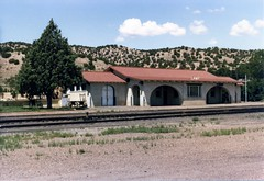 Lamy Depot (Andy961) Tags: railroad newmexico santafe station architecture train railway amtrak depot nm lamy atsf missionrevival