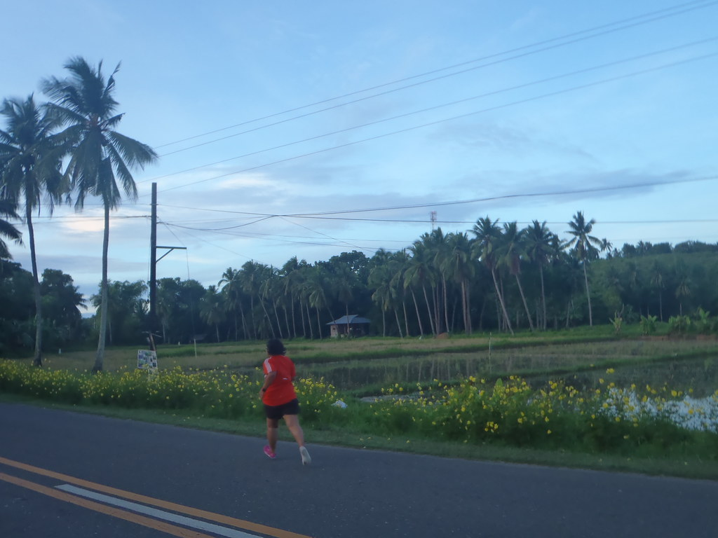 my pink vivobarefoot running in argao, cebu