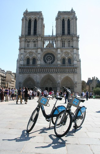 Bikes by the Notre Dame