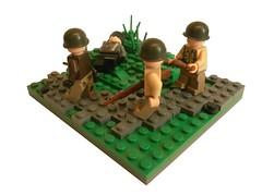 The Dead-WW2 vignette (IAMENS1) Tags: lego bricks wwii creation dio ww2 vignette axis diorama allies germans moc allied vig a brickarms legounit