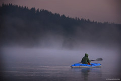 morning meditation (.:: Maya ::.) Tags: morning mist lake water woods kayak     rhodope      beglika beglik     goliam mayaeye mayakarkalicheva   wwwmayaeyecom