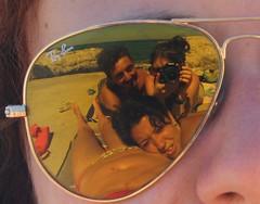 Reflection (_Zeta La Formica•) Tags: friends sea summer reflection sunglasses canon eos rocks estate agosto sicily augusta amici spiaggia sicilia siracusa rayban occhiali scogli riflesso 2011 1000d
