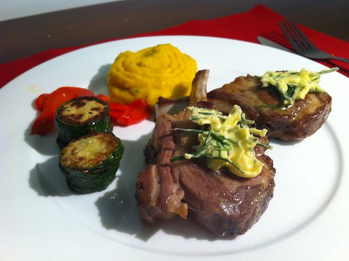 Baked Lamb Cutlets with Rosemary Butter by mjd-s