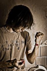 harsh/junkie photoshoot (proovy) Tags: dark blood mood angry depression despair junkie harsh