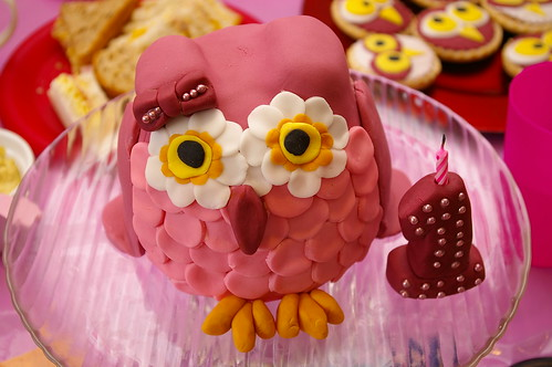 Owl cake - Cherry bee - Novelty cakes - Newbury Berkshire