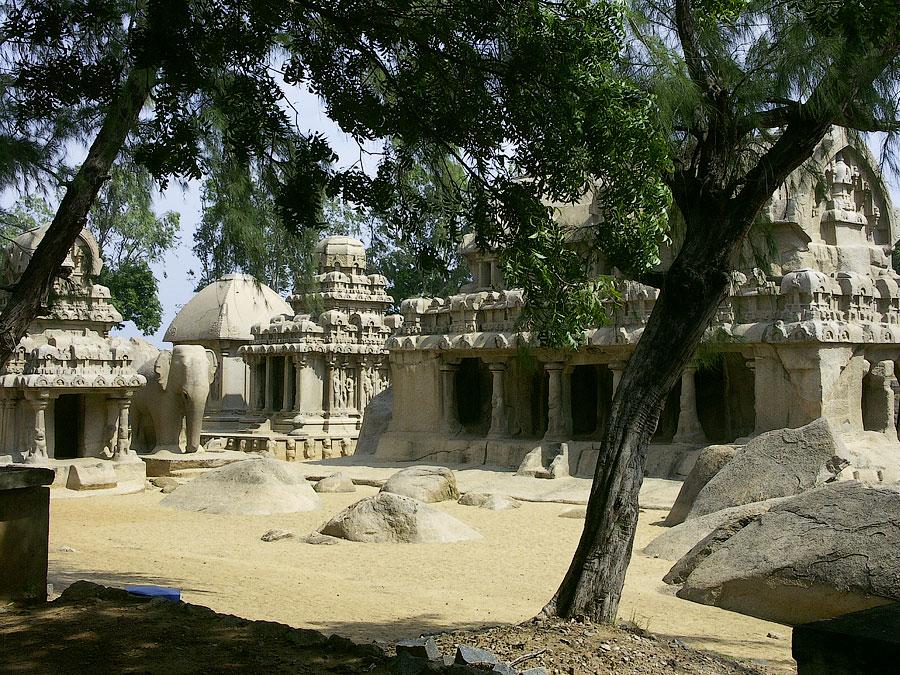 8 колесниу (ратха). Мамаллапурам (Махабалипурам), Индия © Kartzon Dream - авторские путешествия, авторские туры в Индию, тревел видео, фототуры