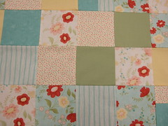 Left Over quilt up close