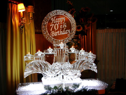 7 candles custom ice sculpture
