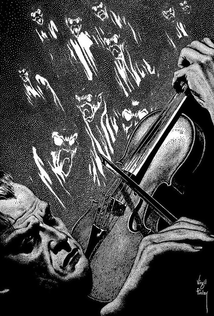 Virgil Finlay - 89, Tcheriapin, Sax Rohmer, 1951