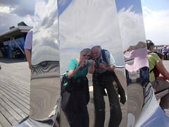 Double self portrait. (Jaxpix50) Tags: selfportrait reflection pier double southport jaxpix50 jackiehsouth