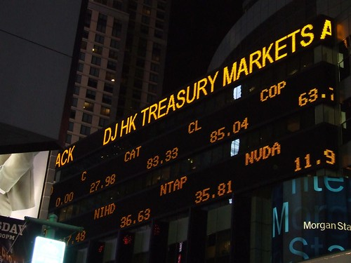Times Square Stock Ticker