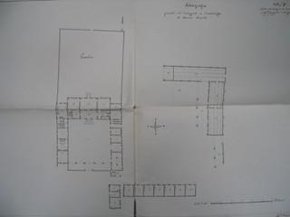 Planimetria della Cascina Cantalupo nel 1830