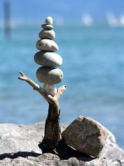 Steinmännchen - pebble balance (Heiko Brinkmann) Tags: stones driftwood balance bodensee equilibrium fourelements langenargen pebblebalancing gleichgewicht the4elements