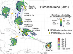 Tracking Irene's Path (NASA Goddard Photo and Video) Tags: hurricane nasa irene hurricaneirene satelliteviewofearth
