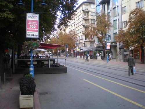 Parklet in Sofia, Bulgaria.