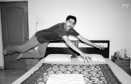 Falling.. Self Portrait by Yogendra174