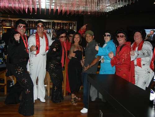 Ryan and Jen with 7 Elvises