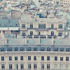 parisian rooftops ({cindy}) Tags: blue paris france architecture buildings square rooftops cream roofs getty frankrijk parijs appartments
