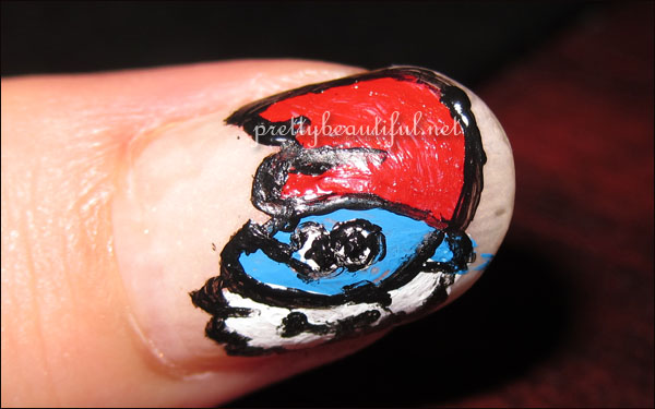 Papa Smurf Nail Art