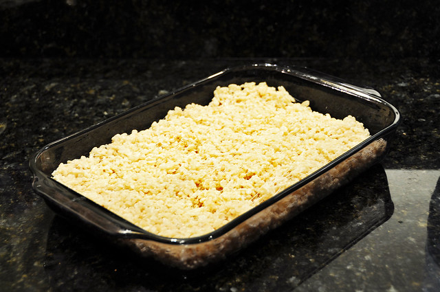 rice krispies in the pan