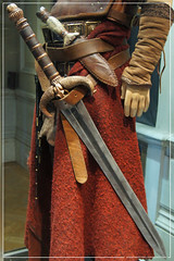 Conan The Barbarian Exhibition - London Film Museum : Jason Momoa's Conan The Barbarian Leather Battle Armour, his father's The Sword of Corin & Dagger from Conan The Barbarian by Craig Grobler