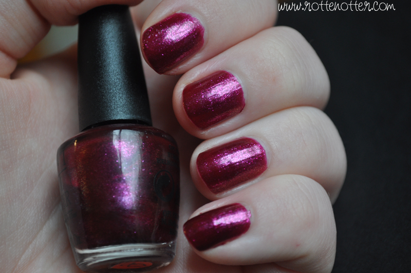 NOTD opi the one that got away nail polish