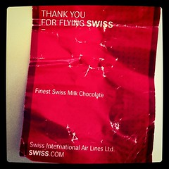Flying swiss chocolate