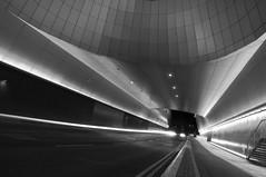 It Is now. (Allyn O' Neill Photography) Tags: longexposure blackandwhite bw dublin vanishingpoint future futurism tron dublinairport terminal2 lightstream airportterminal2 allynoneill