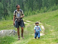 Family walk (*Marta) Tags: vacation italy holiday man alps nature walking italia little walk parks son an alpine waking alp dolomites trough gettyvacation2010 gettyimagesitalyq1 gettyimagesgreece1 gettygreecefamily gettyimagesitalyq2 gettygreecesummer