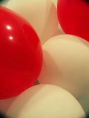 Balloon still life, close up