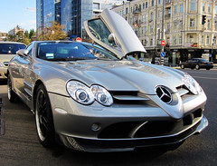 Mercedes Benz SLR McLaren 722 With Opened Door (VictorViper) Tags: door slr mercedes photo with ukraine mclaren kiev supercars opened 722