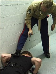 Cop Domination 2 (TBTAOTW2011) Tags: black men leather boot worship uniform shine boots domination police polish lick cop academy abuse prisoner dominant humiliation bootlick