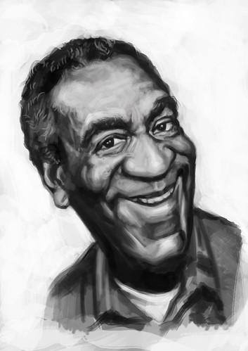 digital caricature painting of Bill Cosby - 2