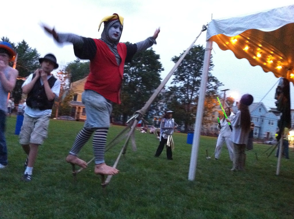 Clown on Tent Stakes