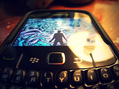 (thirtyandseven) Tags: blue light orange black berry day remember phone blackberry cross cellphone cell processing bb homesick bbm