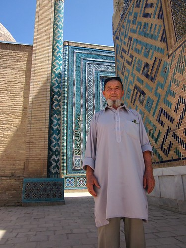Local Uzbek making a pilgrimage.